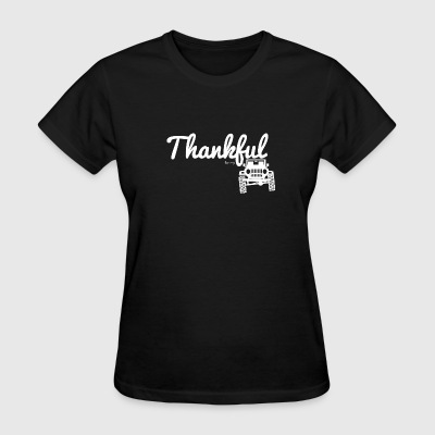 Thankful for my Jeep - Round Lights - Women's T-Shirt