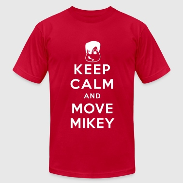 Keep Calm and Move Mikey - Men's T-Shirt by American Apparel