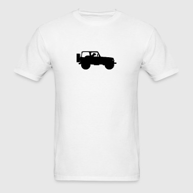 Jeep Dog Co-Pilot - Jeep Wrangler - Men's T-Shirt