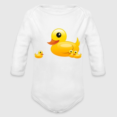 ducks - Long Sleeve Baby Bodysuit