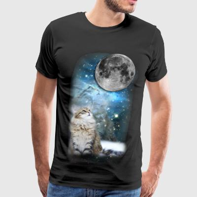 SPACE CAT LARGE - Men's Premium T-Shirt