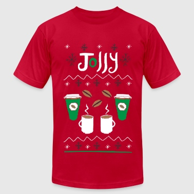 Ugly Sweater - Coffee - Men's T-Shirt by American Apparel