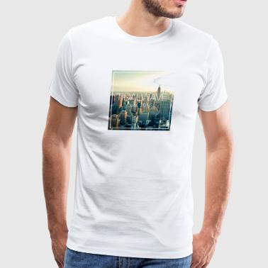 Tidal Wave Skyline Tee - Men's - Men's Premium T-Shirt