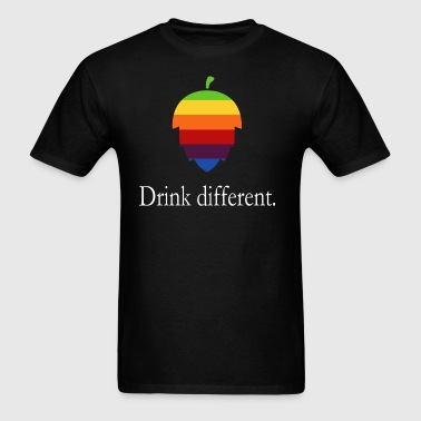 Drink different - hops logo in Apple style - Men's T-Shirt