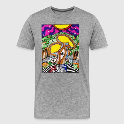 Psilocybin at dusk - Men's Premium T-Shirt