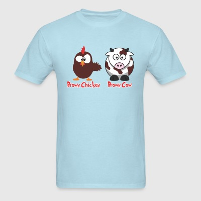 Brown Chicken Brown Cow - Men's T-Shirt