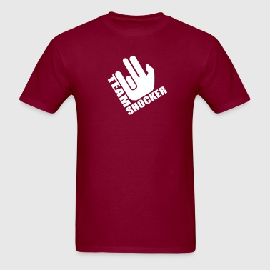 Burgundy Team Shocker Men - Men's T-Shirt
