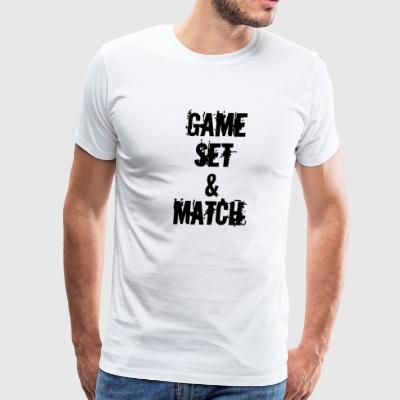 GAME SET & MATCH / KIWI - Men's Premium T-Shirt