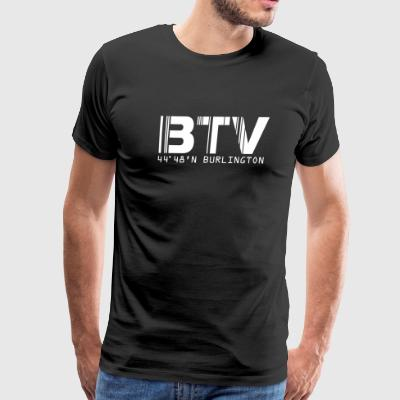 Burlington Airport Code Vermont BTV T-shirt - Men's Premium T-Shirt