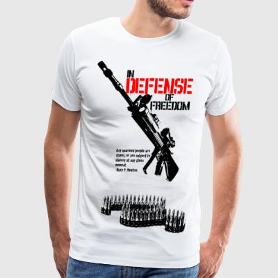 White defense_of_freedom T-Shirts - Men's Premium T-Shirt