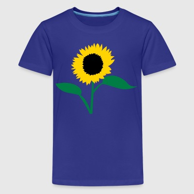 Turquoise summer sunflower Kids' Shirts - Kids' Premium T-Shirt