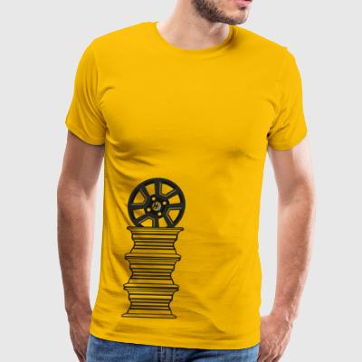 Hachi-Life Supra Wheel Stack Clear - Men's Premium T-Shirt
