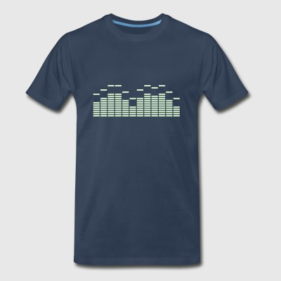 Equalizer Frequency DJ Sound Music Beat Pop Techno discjockey record T-Shirts - Men's Premium T-Shirt
