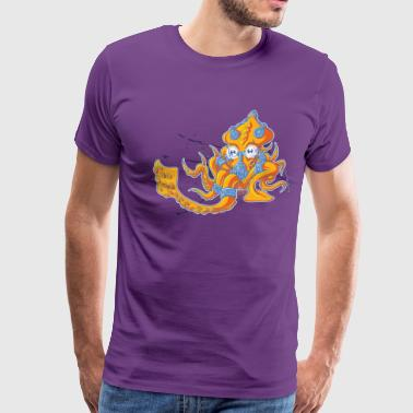 Techno Squid - Men's Premium T-Shirt