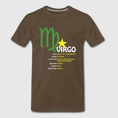 Virgo Traits Men's Heavyweight Dark Tee - Men's Premium T-Shirt