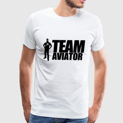 TEAM AVIATOR White - Men's Premium T-Shirt