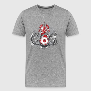 Evil eye 666 design tshirt - Men's Premium T-Shirt