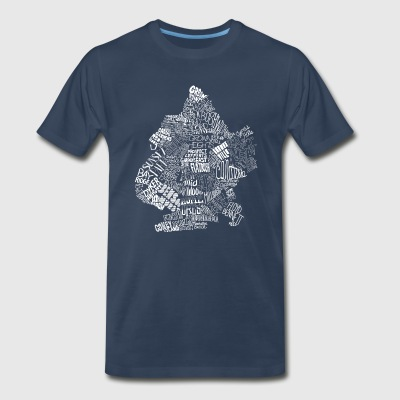 Brooklyn Neighborhoods T-shirt - Men's Premium T-Shirt