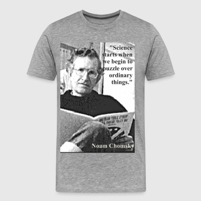 Chomsky on Science - Men's Premium T-Shirt