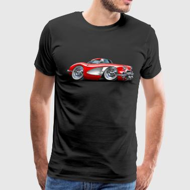 1958-60 Corvette Red Car - Men's Premium T-Shirt