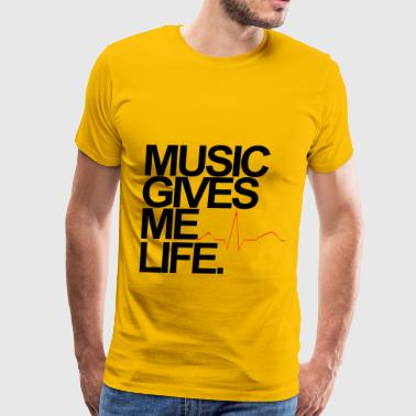 Music Gives Me Life T-Shirt - Men's Premium T-Shirt