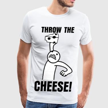 Throw The Cheese White T-shirt - Men's Premium T-Shirt