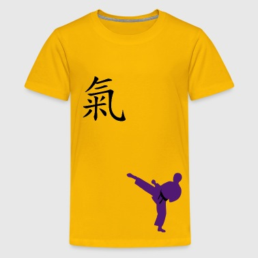 Meaning of Black Belt: Courage boys  T shirt in yellow - Kids' Premium T-Shirt