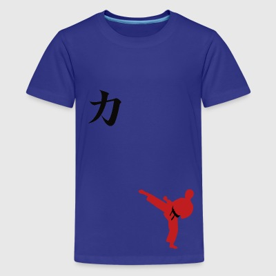 Meaning of Martial Arts: Strength boys T shirt in turquoise - Kids' Premium T-Shirt