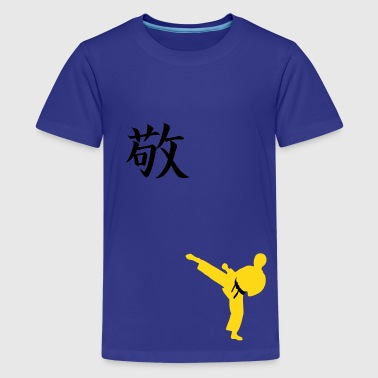Meaning of Black Belt: Respect boys  T shirt in royal blue - Kids' Premium T-Shirt