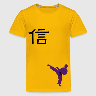 Meaning of Black Belt: Honesty boys  T shirt in yellow - Kids' Premium T-Shirt