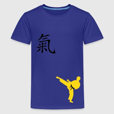 Meaning of Black Belt: Courage boys  T shirt in royal blue - Kids' Premium T-Shirt