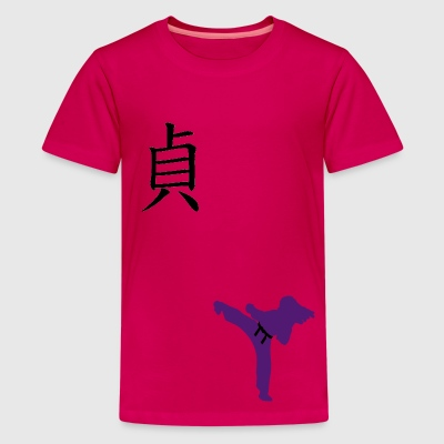Meaning of Black Belt: Integrity girls T shirt in pink - Kids' Premium T-Shirt