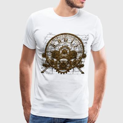 Steampunk Time Machine #1A Steampunk T-shirts - Men's Premium T-Shirt