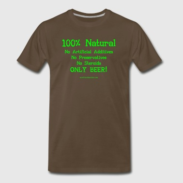 100% Natural Just Beer Men's 3XL/4XL T-Shirt - Men's Premium T-Shirt