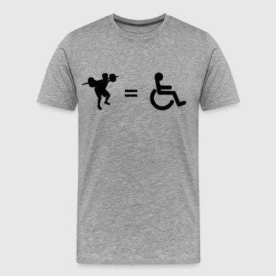 Leg Day = Wheelchair - Men's Premium T-Shirt