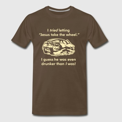 I TRIED letting Jesus take the wheel. - Men's Premium T-Shirt