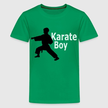 Karate Boy Kids Green T-shirt - Kids' Premium T-Shirt
