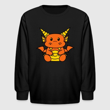 Red Chibi Dragon Kids' Shirts - Kids' Long Sleeve T-Shirt