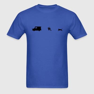 Chased by dog - Men's T-Shirt