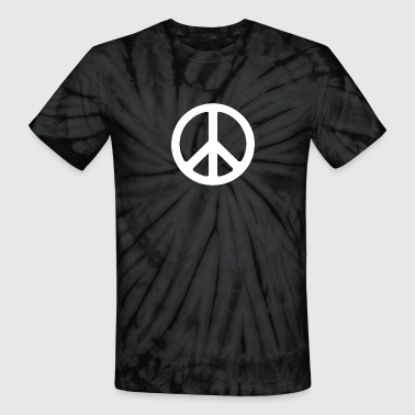 Black tye die peace sign - Unisex Tie Dye T-Shirt