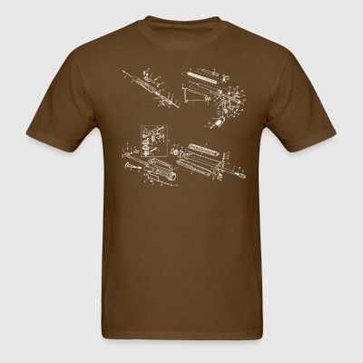 AR15/M16 Exploded Diagram - Men's T-Shirt