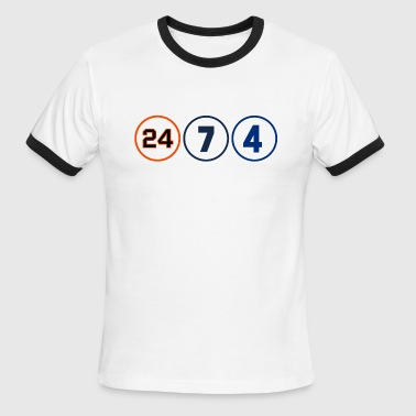 24, 7 & 4 - Men's Ringer T-Shirt