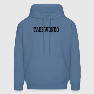 Mens Taekwondo Hooded Sweatshirt, kickers on back - Men's Hoodie