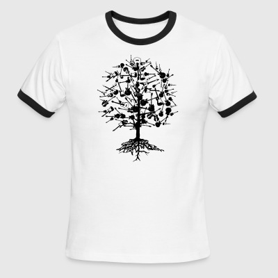 Guitars Tree American Apparel T-Shirt - Men's Ringer T-Shirt