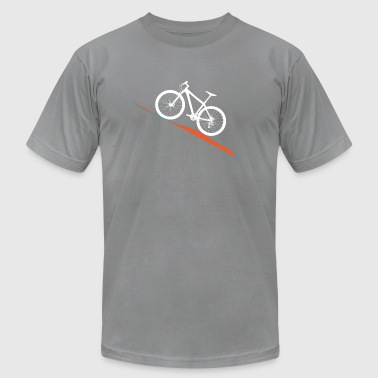 MTB Slant Orange - Men's T-Shirt by American Apparel