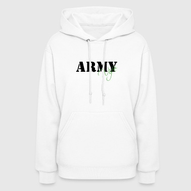 Army Wife - Green - Customizable! - Women's Hoodie