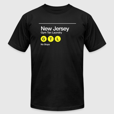 Men's GTL New Jersey Non-Stop Subway Shirt BLACK - Men's T-Shirt by American Apparel