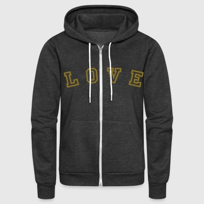 NEW! American Apparel LOVE Zipper Hoodies!! - Unisex Fleece Zip Hoodie by American Apparel
