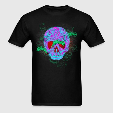 mens cheap tee metal devil skull - Men's T-Shirt