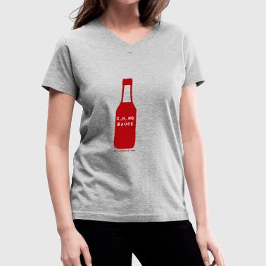 hot sauce ladies T - Women's V-Neck T-Shirt